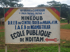 Sign Posted to Announce Our TIkar Village in the Rainforest called N'Ditam