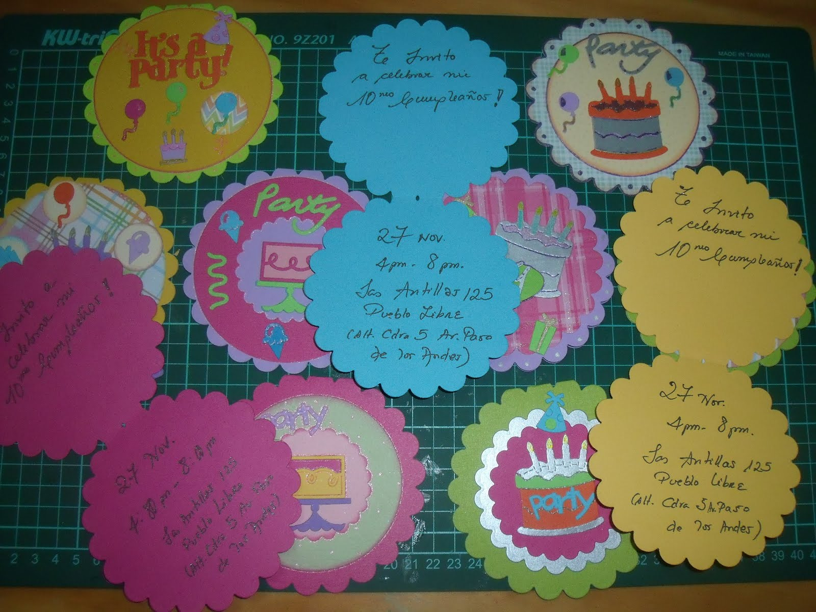 ... Lima - Peru: Invitación de Cumpleaños con SCRAPBOOKING