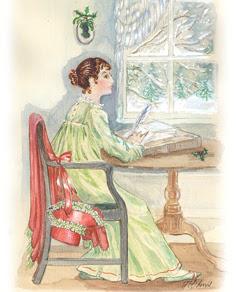 Pour vous, à quel genre littéraire s'apparente l'oeuvre de Jane Austen ? Jane-austen-at-her-desk