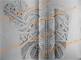 chest and shoulder tattoo designs tribal maori style samoan sketches