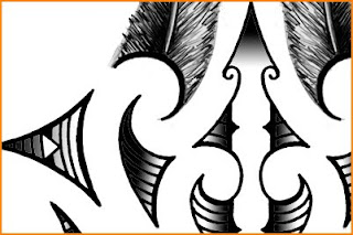 high resolution maori forearm tattoo feather design