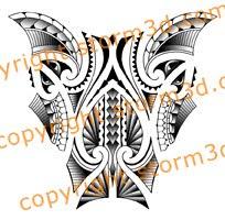 lower leg tattoo wrap neo tribalism