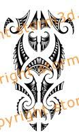 forearm tattoo maori tribal design