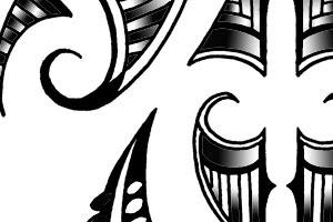 koru tattoo in kirituhi style