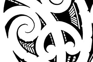 koru patterns tattoo flash