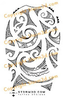 Robbie Williams tattoo design maori