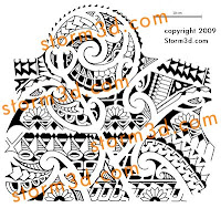 tribal tattoo mixed shoulder design
