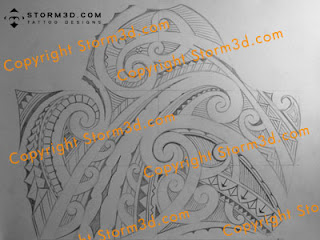 maori upper arm tattoo sketch in high resolution