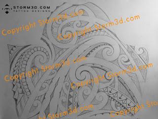 maori upper arm tattoo sketch in high resolution