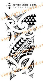 tribal forearm tattoo design storm3d maori