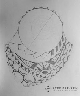 polynesian tatou design turtle shell
