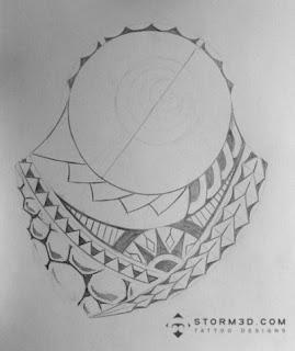 polynesian tatou design turtle shell