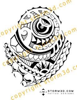 dj tattoo design polynesian style spearheads tatau