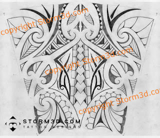 pencil sketch of a tribal forearm tattoo