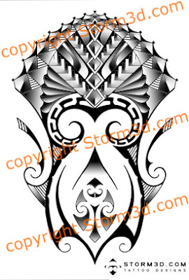 Samoan maori tattoo designs mixed