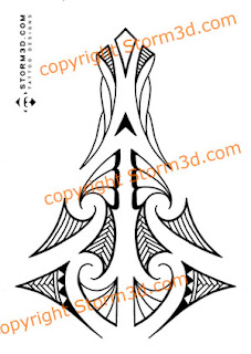 high quality maori tattoo design
