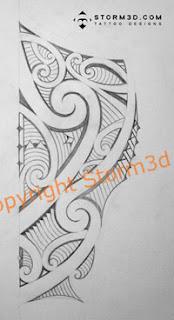 maori leg tatoo images side
