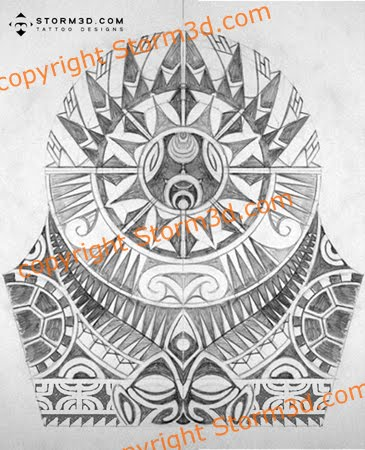 Coconut Leaves Tattoo Polynesian Shoulder Design