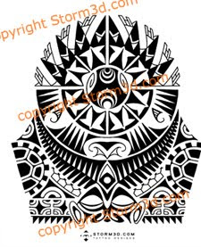 high resolution polynesian tattoos mask