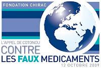 appel de cotonou contre les faux médicaments 12 octobre 2009 fondation chirac