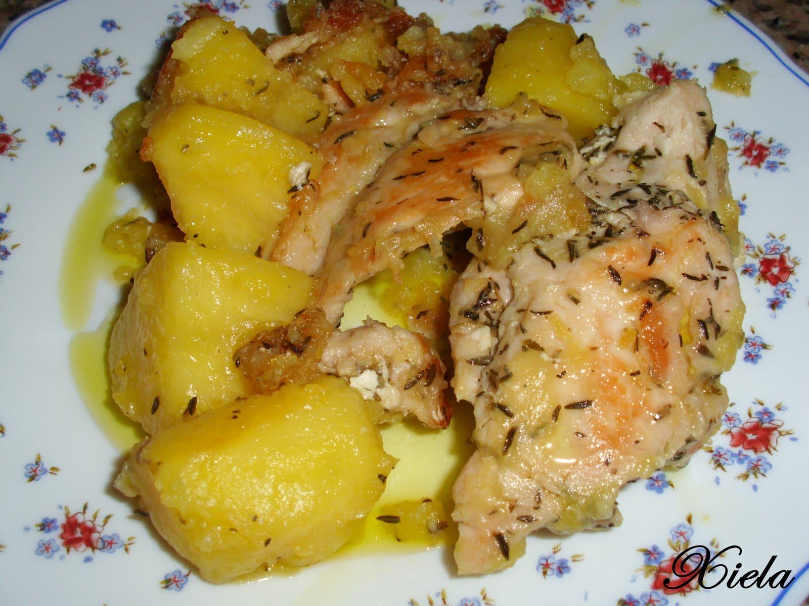 Xielamar la mar de salada pechugas de pollo con tomillo for Pechugas de pollo al horno con patatas
