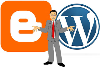 pilih blogspot atau wordprees