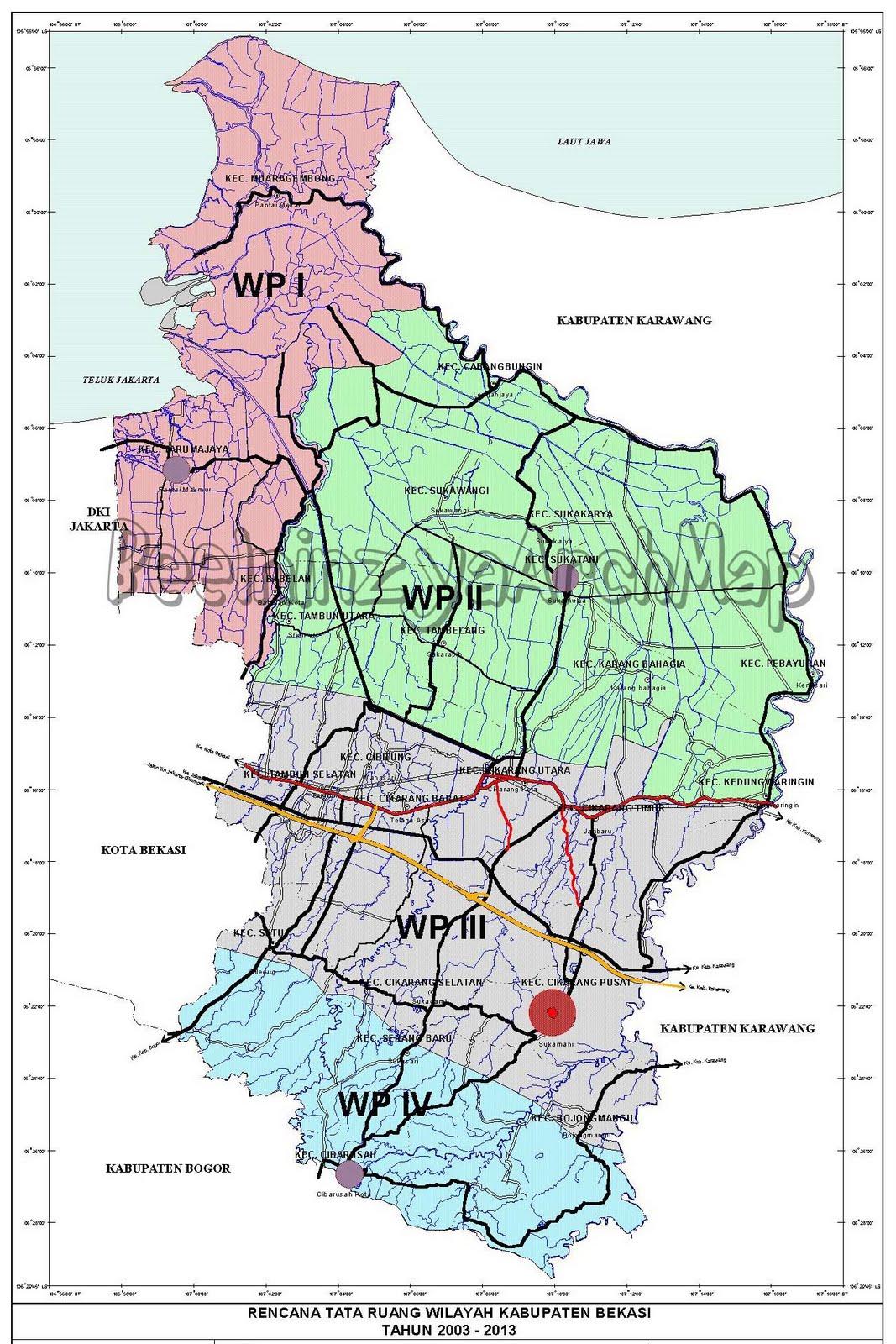 Rencana Tata Ruang Wilayah Kabupaten Bekasi Th. 2003-2013