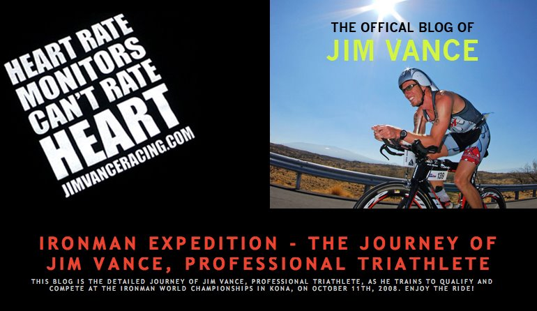 Ironman Expedition - The journey of Jim Vance, Professional Triathlete