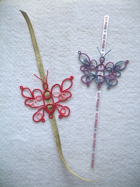 how to make a butterfly bookmark