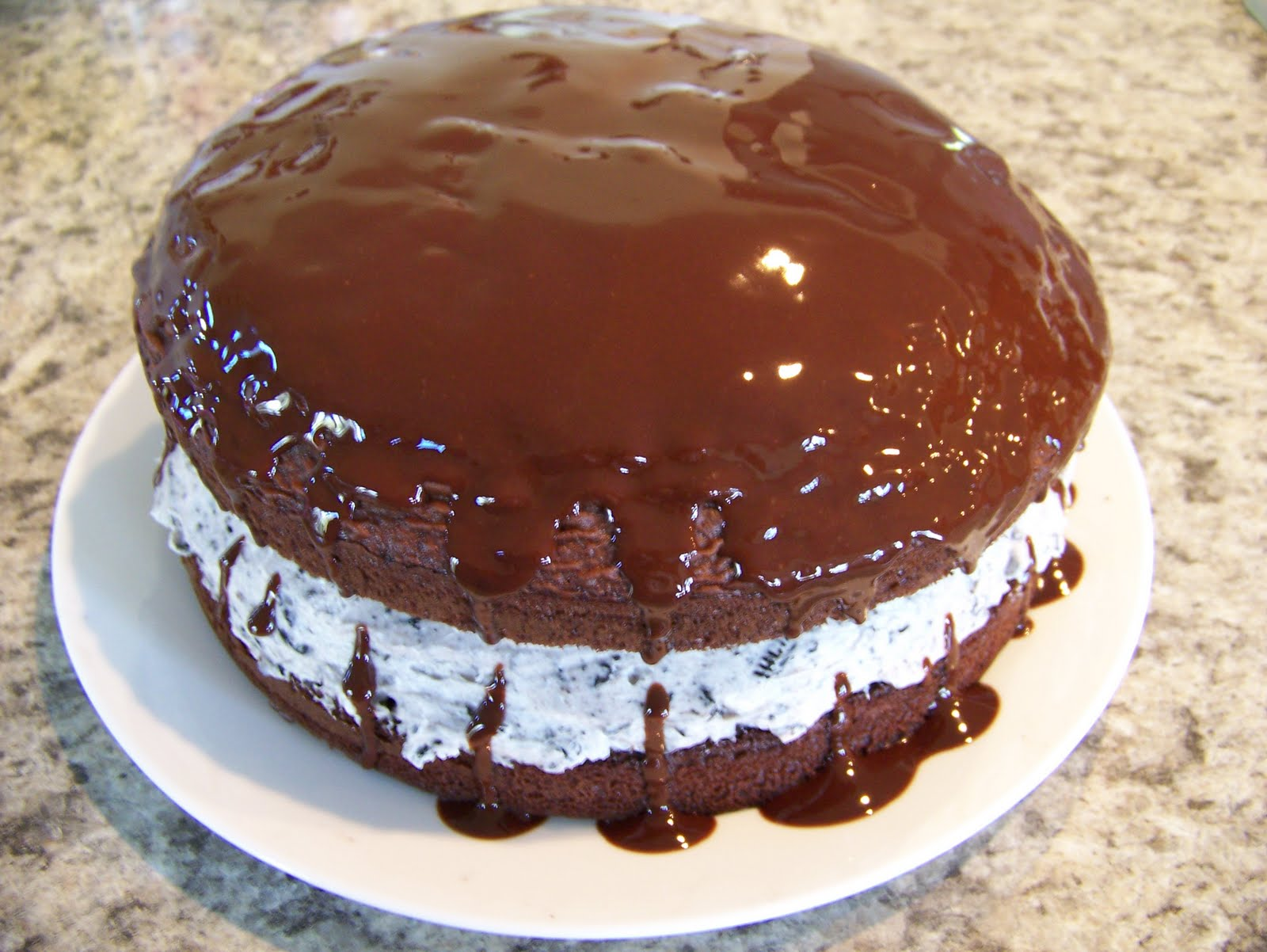 The Peppered Pantry: Chocolate-Covered Oreo Cookie Cake