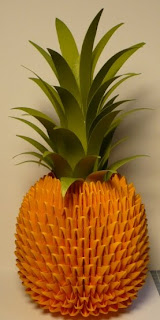 3D Origami Pineapple Tutorial  YouTube