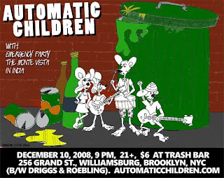 Automatic Children Play Trash Bar in Williamsburg on Dec. 10th