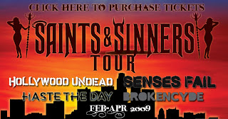 Senses Fail Announce 'Saints & Sinners' Tour Dates