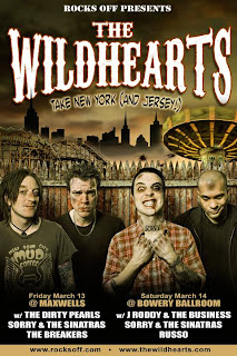 The Wildhearts Play Bowery Ballroom and Maxwell's this Weekend