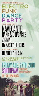 Hank & Cupcakes Play Electro Funk Dance Party at Southpaw on August 27th
