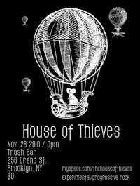 House of Thieves Plays the Trash Bar on Sunday, Nov. 28th