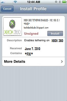 how to fix tethering xbox 360
