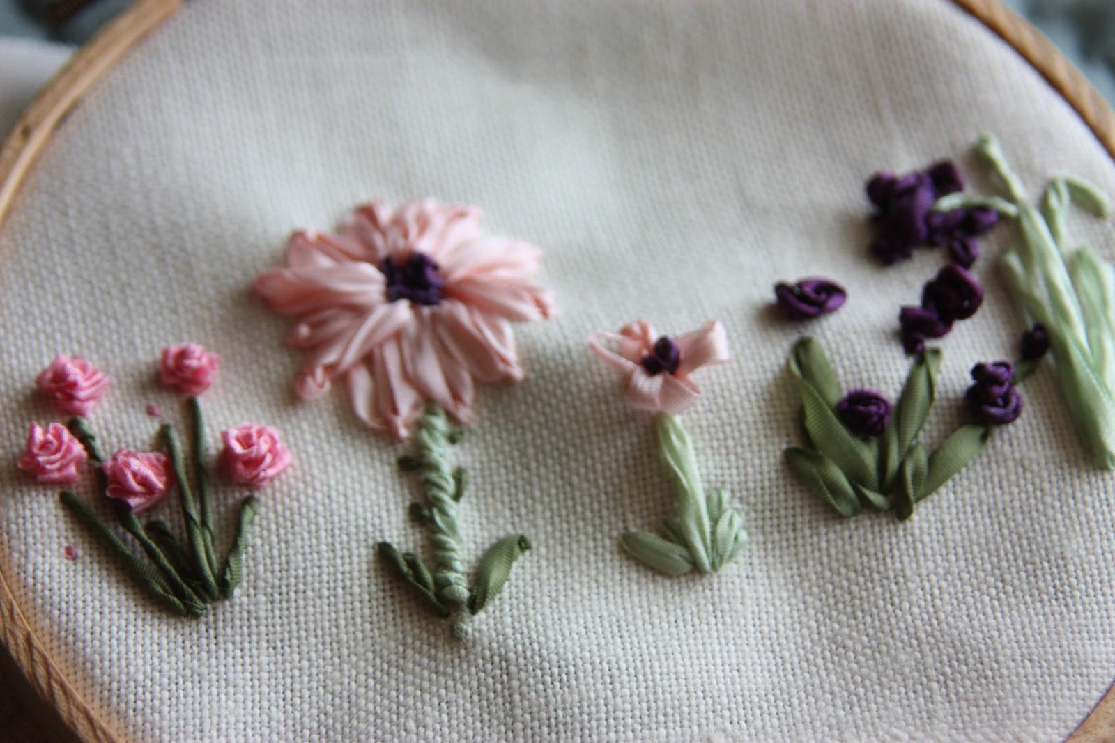 Honey lamb and i ribbon embroidery