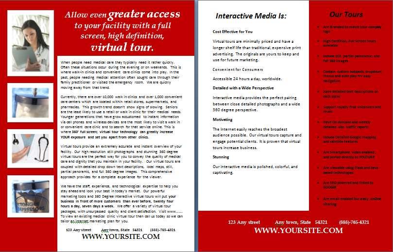 Virtual Tour Marketing Pieces Rtv Inc