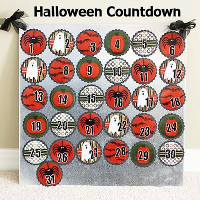 DIY Halloween Countdown   Magnetic Board