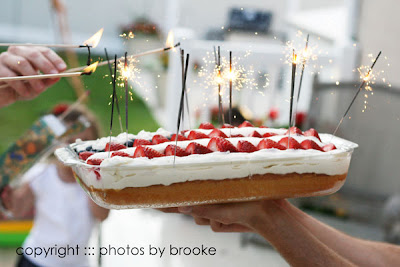 Patriotic Flag Cake Recipe   4th of July desserts