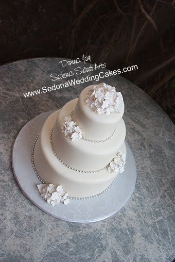 simple wedding cakes with flowers. White on White Wedding Cake