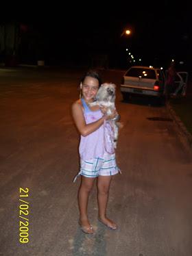 eu e minha cachorrinha(Menininha)