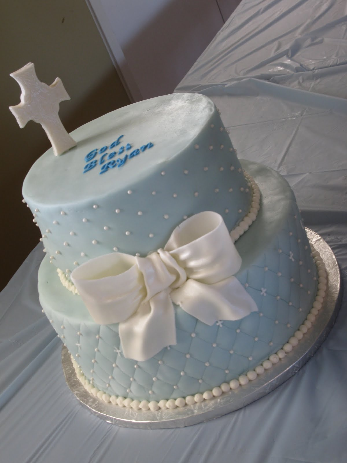 Icing Cake Design For Christening : Creations by Barbara: Baptism Cake
