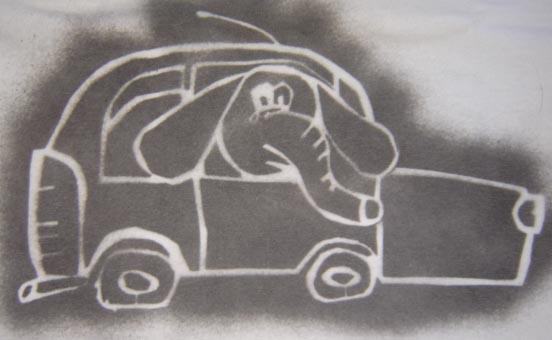un elefante en un fitito