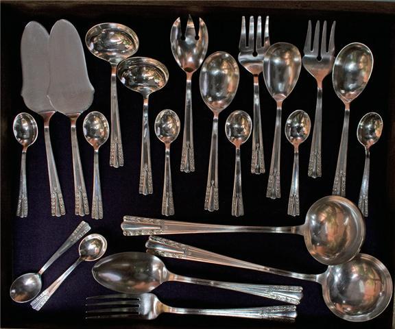 Colecci n magdalena de cueva cubiertos de plata juego 1 for Cubiertos plata