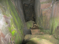 Cave beneath large boulders in the centre of Lost World - 5 Jan 2008