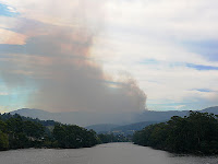 Judbury bushfire from Huonville Bridge - 3:53pm, 18 Feb 2007