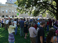 Pulpmill protest finishing, Parliament House - 22 Mar 2007