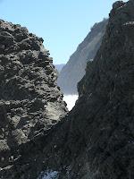 Notch, below Coal Bluff, South Cape Bay - 6 Oct 2007